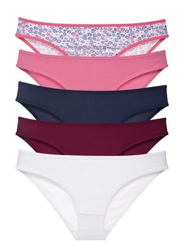 Sensu Kadın Basic Külot Karışık Renkler 5 Li Paket 1009 Renkli